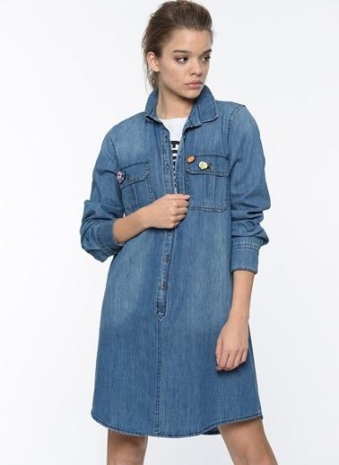 Cazador Jean Gömlek Elbise İndigo